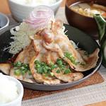 満天食堂 - 豚ロースおろしポン酢定食