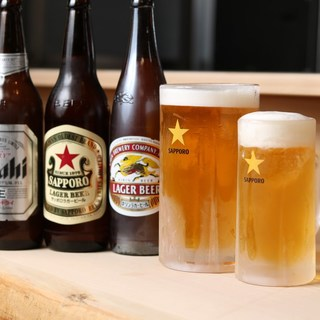 いつでも飲める通し営業◎驚くほど大きな生ビールがおすすめ