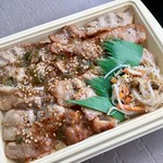 ローソン - 氷温®熟成豚のネギ塩カルビ弁当(麦飯) ¥399