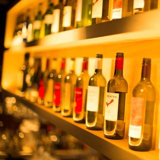 リーズナブルで種類豊富なボトルワイン