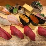 板前寿司 - ランチの1番高いセット