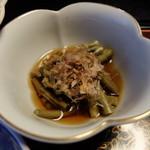 旅館 三恵 - ふき(?)の小鉢