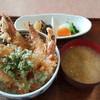 車座 - 料理写真:車海老の天丼