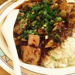 Daimeitantammen - 四川麻婆豆腐飯 630円 めちゃくちゃ辛いです。でも美味しい