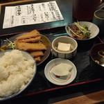 ○気 - ハムカツ定食(750円)