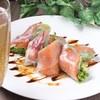 イタリア産生ハム/贅沢2種の生春巻き/6種の野菜のバーニャカウダ