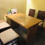 山翠 - 二階テーブル席