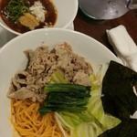 たんたん麺の めんたらし - 尾崎牛のつけ肉[半麺・辣油]