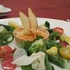 マゼランズ - 料理写真:スイスチャードと桜海老のキッシュ、サラダ添え