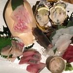 目黒川魚金 - お刺身3点盛り
