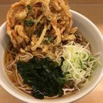 名代 箱根そば - かき揚げ天そば(390円)