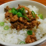 東京担々麺  ゴマ哲 - ランチのセットメニュー、ミニ魯肉飯。