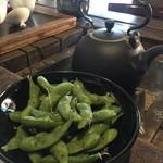 Jioufen Teahouse - エダマメとお茶