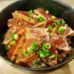 目黒のさんま 菜の花 - かつおの赤づけ丼