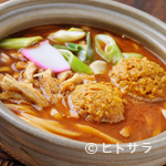 かま濃 - 料理写真:ピリ辛さが後を引く美味しさ『カレー味噌煮込みうどん』