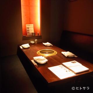 プライベート空間を大切にした個室は、接待や会食に最適