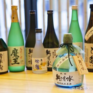地元の清酒や日本各地の銘酒を