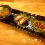 とんとん拍子 - 豚のオリジナル天ぷら『とんぷら』おまかせ3点盛り
