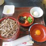 神宴 - 料理写真:三色出雲そば