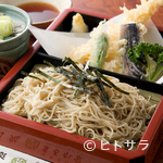 そば処 まるか家 - サクサクな大海老の天ぷら付き『天ざるせいろ』