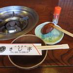 きじ亭 - 鍋の用意