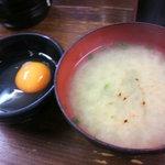 6536310 - 味噌汁&生卵