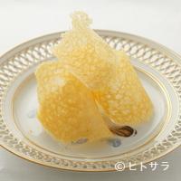 リストランテ 濱崎 - パリパリした触感が楽しい『パルメザンチーズのクロカンテ』