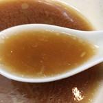 65365040 - 「白河ラーメン」ならではのすっきりとした醤油スープと表面に浮かぶ「鶏油」がうまく調和しています。