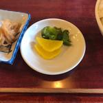 レストラン喫茶 タクト - ライス、お新香、切り干し大根
