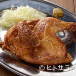 居酒屋 九四六屋 - 皮はパリッ、中はジューシー。あふれる肉汁の『かぶりつき若鶏』