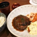 SION canteen& - 手作りハンバーグと海老フライランチ950円