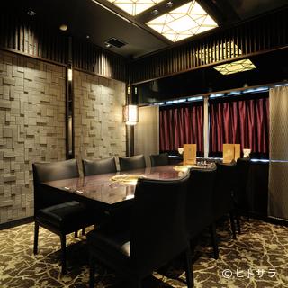 VIPルーム完備。究極のプライベート空間で焼肉を堪能する
