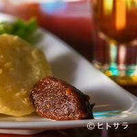 酒茶論 - 『味噌の燻製 長芋揚げ添え』