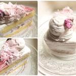 65371755 - かのこ豆と桜のショートケーキ