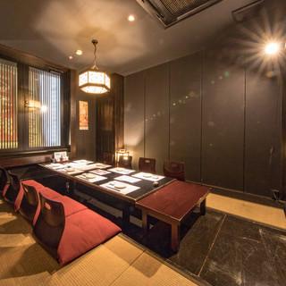 8名様用の掘り炬燵式完全個室