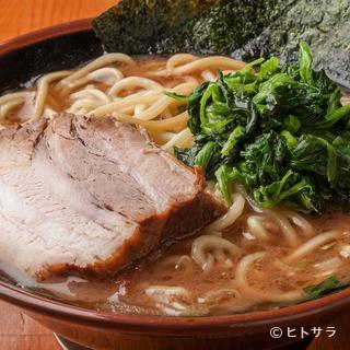 麺にもスープにもこだわり、手間暇かけた味を堪能