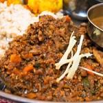 サッチェズカリー - 3種盛り(野菜たっぷりキーマ)