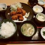 油屋熊八亭 - 地獄蒸しから揚げ定食(890円・税抜)