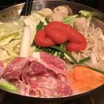 桜島 - 博多風鶏の明太子鍋