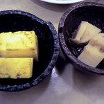 はなの舞 - 小鉢の出汁巻き玉子とタケノコの煮物です