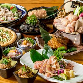 豪華地鶏尽くし◇すき焼き鍋付き名古屋コーチン料理で宴会!!