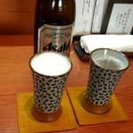 65395170 - まずはビールで喉を潤します