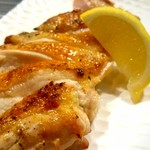 鶏亀 - ももの黒七味焼き
