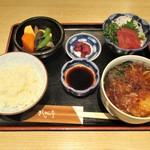 きしめん亭 - きしめん定食 1,050円(税込) 2017.04.12