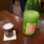 味勢 - ドリンク写真:菊の司の活性原酒