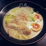 鶏がららーめん 門扇 - 【鶏らーめん + 味付け玉子】¥750 + ¥100