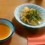たいむ - ふきのとうとなすの天ぷら