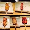 白金 酉玉 - 料理写真:左上から時計回りに。 ぼんじり、ハツ、軟骨、そりれす、レバー