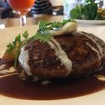 神戸屋レストラン - 牛100%ハンバーグステーキ特製デミグラスソース