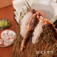赤坂 きた福 - 活け蟹だからこその味。新鮮な身を堪能『刺身』(活けたらば)